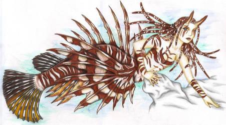 Lionfish Mermaid by zepheenia