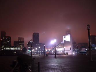 9th street pier at night by Greyhound-Bus