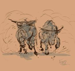 Bull Dance by super-fergus