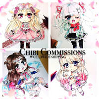 Chibi Commissions Open! by LaLadybug