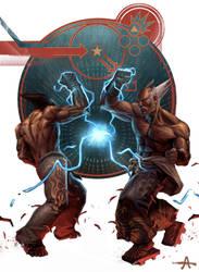 Electric Wind God Fist by ameeeeba