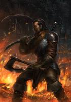 Warrior by ameeeeba