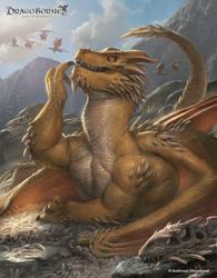 Yellow Dragon by ameeeeba