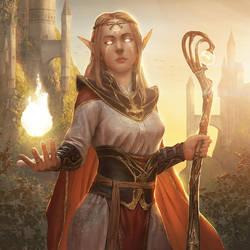 Elf Sorcerer by ameeeeba