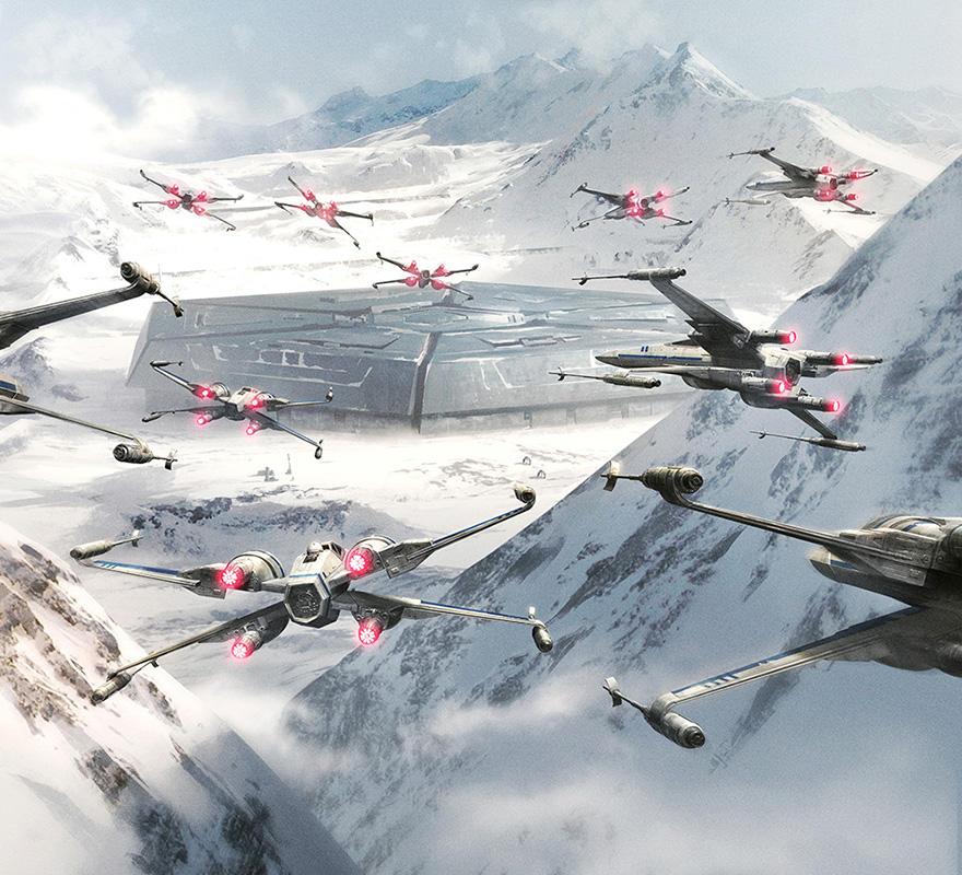 X-wings raid-1 by ameeeeba