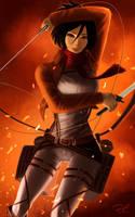 Mikasa Ackerman by deadmanchimi