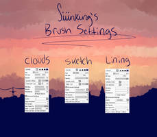 brush settings + brush download Paint Tool SAI by Siiinking