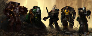 DeathWatch Crew by StoryKillinger
