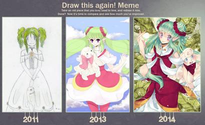 Draw This Again Meme: Primrose by Everglaves