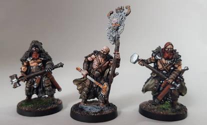 Blood Rage, Bear Clan Figures by jeandiz