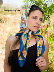 Headscarf - 2 by knottysilkscarf
