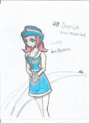 Lucy LeBeaux Drawing 48days announcement by nightsfangirl23