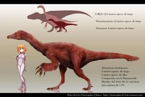 Alxasaurus elesitaiensis by Christopher252