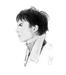 Speedpainting: Ian Somerhalder by janine83