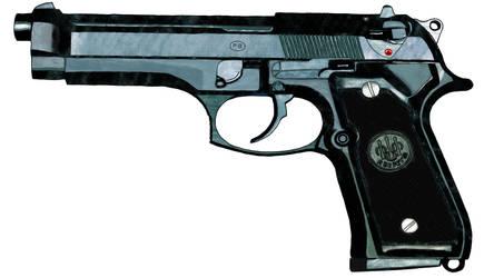 Beretta 9mm by digitalSatyr23