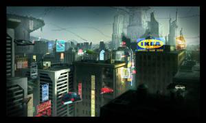 Sci-Fi City Finaaaaal by UrbanMelon