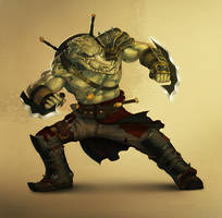 Croco Warrior by UrbanMelon