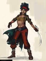 Pirate Girl WIP by UrbanMelon