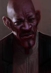 Old Black Guy Study by UrbanMelon