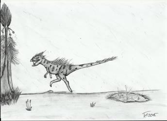 Thyaniulong by Terizinosaurus