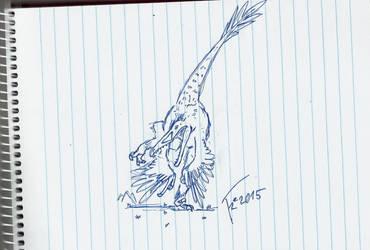 Utahraptor by Terizinosaurus