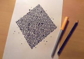 Diamond Calligraphy by WhiteSylver