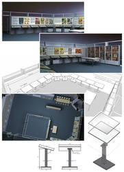 'Muzeul Benzii Desenate' ('Comics Museum') project by E1design