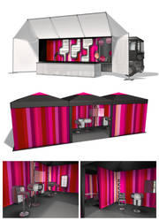 Concept illustration for Avon promo caravan by E1design