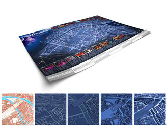 Zurich Map Illustration by E1design