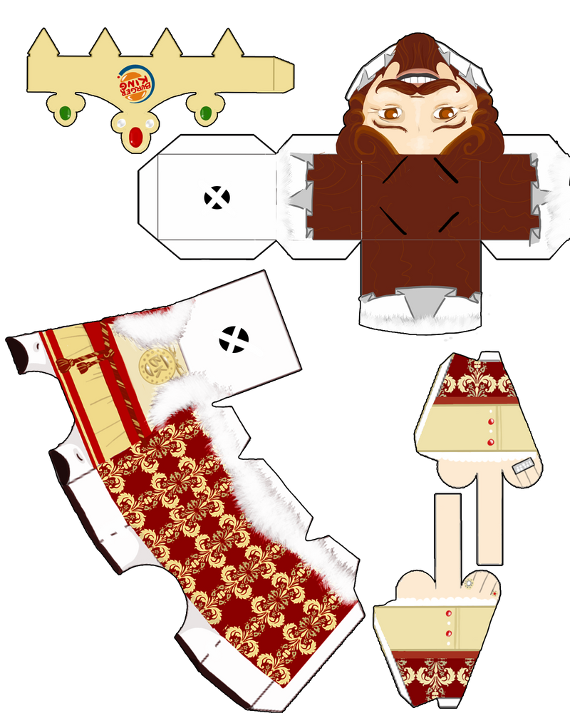 The King Paper Toy