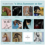 2014 Art Summary by KnifeInToaster