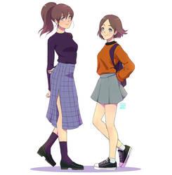 Jene and Anna by Janenonself