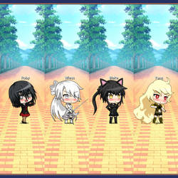 Chibi Team RWBY by flamingcreepsunlimit