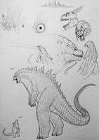 Godzilla by TheGreatestLoverArt