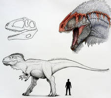 Giganotosaurs  by TheGreatestLoverArt