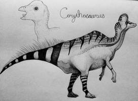 Corythosaurus  by TheGreatestLoverArt