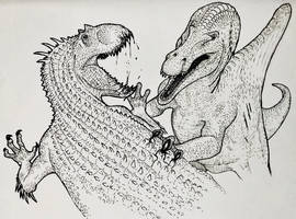 The Beast of Sorna vs The Monster of Nublar  by TheGreatestLoverArt