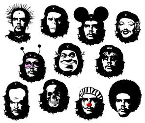 The many faces of Che Guevara by thebullfrog