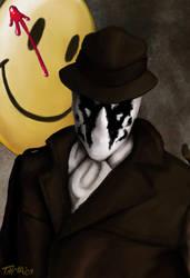 Rorschach of Watchmen by thehotmageaeris