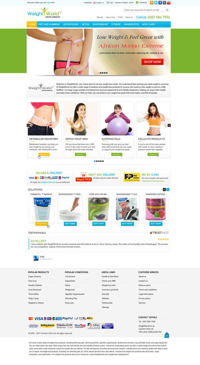 e-commerce portal layout by Kanhasharma