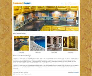 Sandmark Impex home page design by Kanhasharma