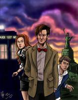 Team TARDIS - coloured by Olooriel