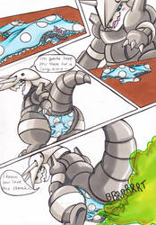 ::COM:: Aggron + Riolu comic p.1 by Imaranx