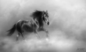 Horse Sketch by cyrus-crashtest