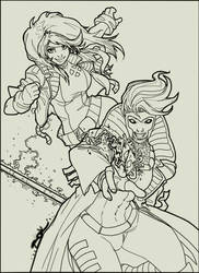 Gambit and Rogue by ShannonDenise