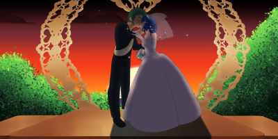 Ash and Dawn Wedding day by pokemon1991j