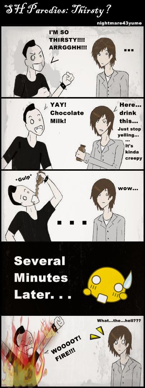 SH Parodies: Thirsty? by nightmare43yume