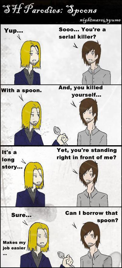 SH Parodies: Spoons by nightmare43yume
