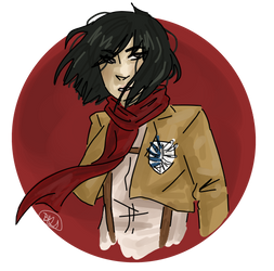 Mikasa by nightmare43yume