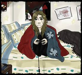 Blanket Hoarder by nightmare43yume